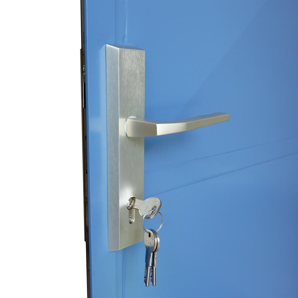 Kljuka Kovinska Dvokrilna Vrata
